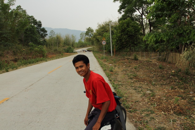 My Motorcycle Taxi driver to Myitsone, Burma