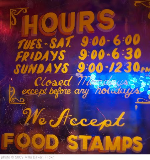 'Jacques-Imo's: Food Stamps' photo (c) 2009, Mills Baker - license:  http://creativecommons.org/licenses/by/2.0/