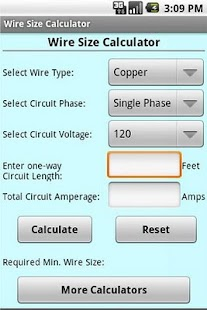 Wire size calculator android apps on google play wire size calculator screenshot thumbnail wire size calculator screenshot thumbnail greentooth Images