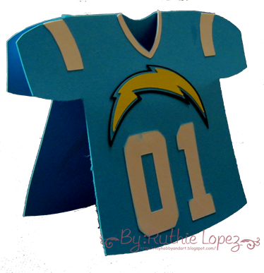 San Diego Chargers Card - Ruthie Lopez - Silhouette Cameo 3