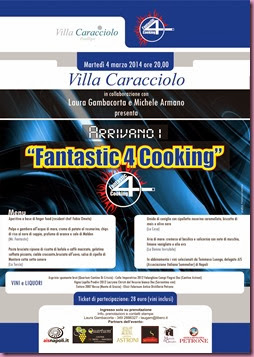 web locandina  FANTASTICI 4 COOKING