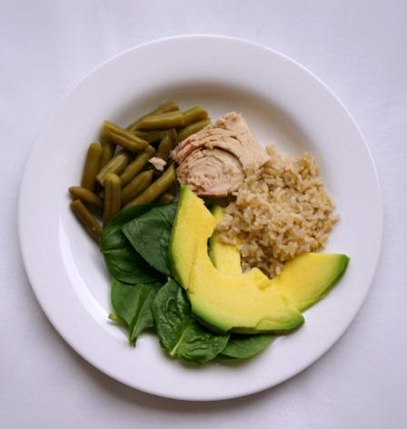 Brown Rice Avocado Tuna Bowl