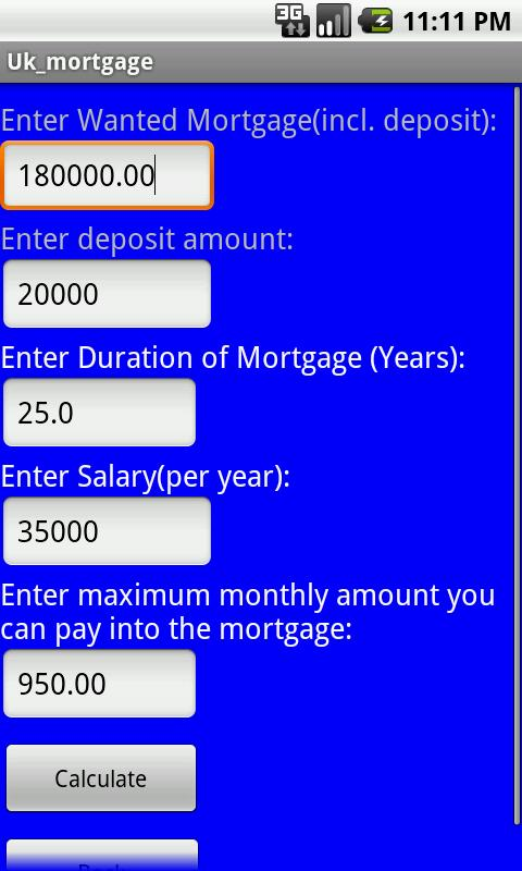 UK Mortgage Calculator - Android Apps on Google Play
