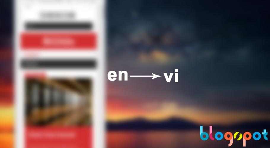 Hướng dẫn thiết đặt tiếng Việt cho trang quản lý Blogspot