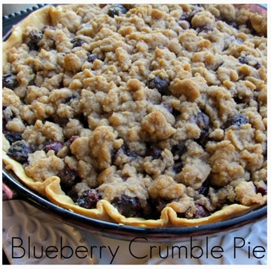 Blueberry Crumb Pie: Pillsbury Pie Crusts Blueberry Crumble Pie