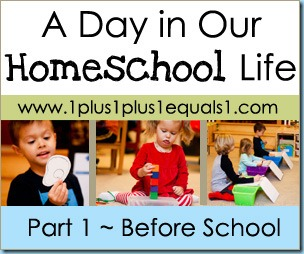Homeschool Life Button Before School