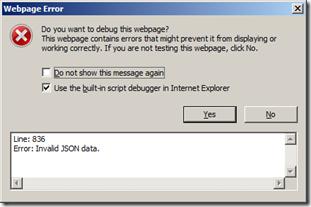 "Robert Seso's Blog: SharePoint 2013 Apps: ""Invalid JSON Data"
