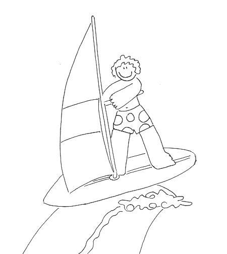 Dibujos De Windsurf Para Pintar Y Colorear Windsurf