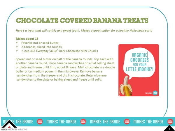 Choco Covered Banana - Healthy Back To School Snacks