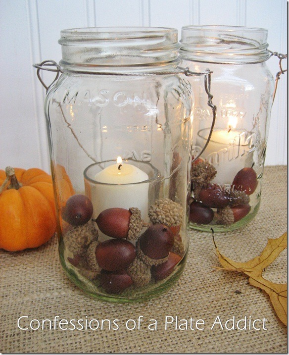 CONFESSIONS OF APLATE ADDICT Fall Mason Jar Candles