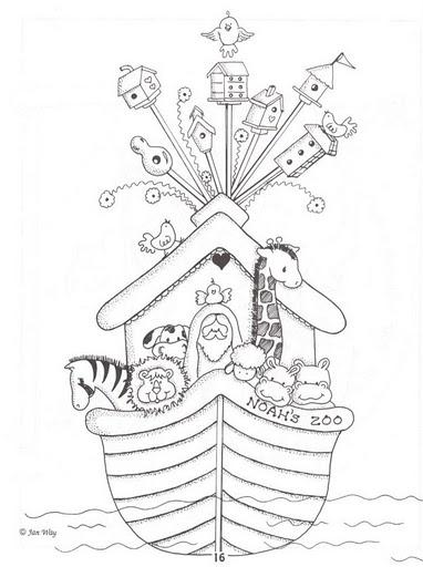 El Arca De Noe Dibujos Para Colorear