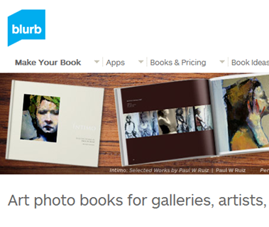 self publish artbook blurb