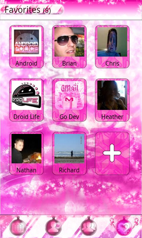 PINK XMAS GO Contacts Theme - screenshot