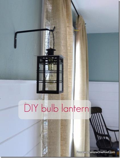 DIY bulb lantern