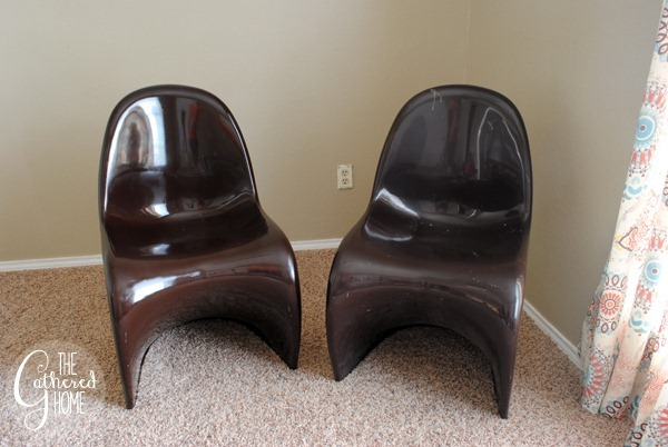brown panton chairs before and after