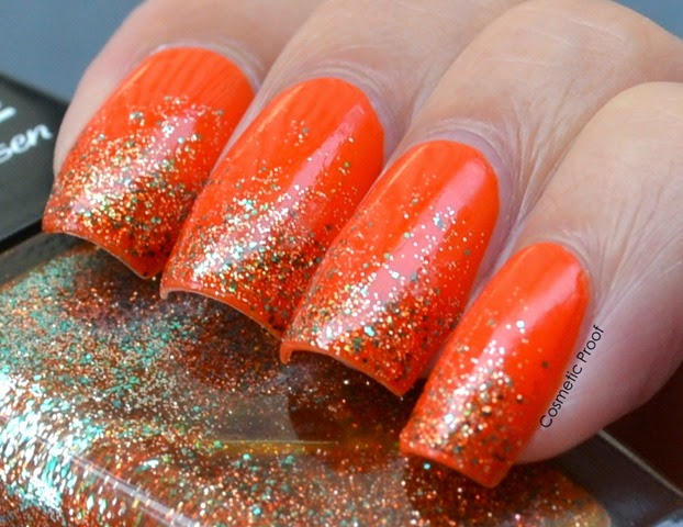 Sally Hansen Triple Shine Taheati and Sparktacular Gradient (3)
