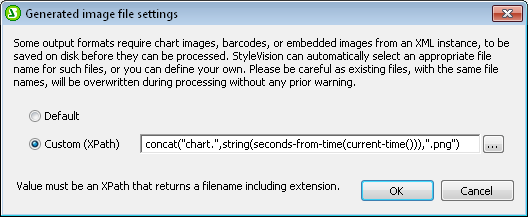 Custom chart file name based on an XPath expression