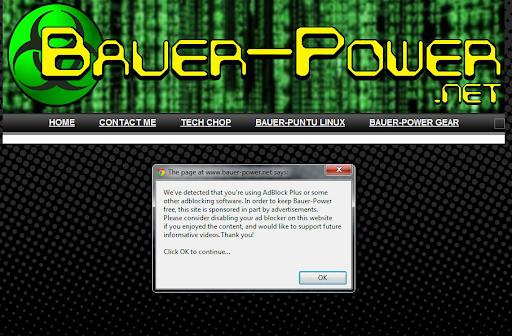 Block Adblock On Your Blogger/Blogspot Site ~ Bauer-Power Media