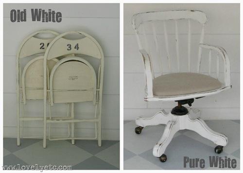 old white vs. pure white