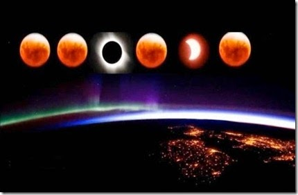 Blood Moon Sun Earth