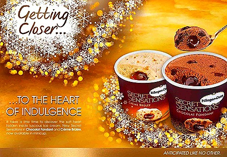 Haagen-Dazs Secret Sensations Chocolat Fondant and  Crème Brulee  ice cream