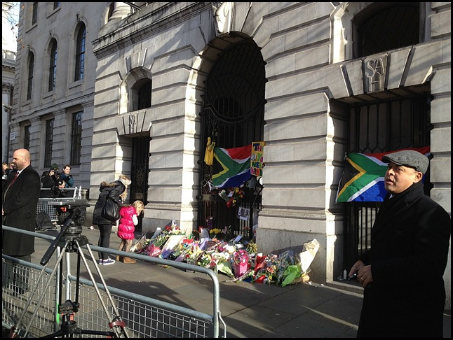 Camera crews at South Africa House