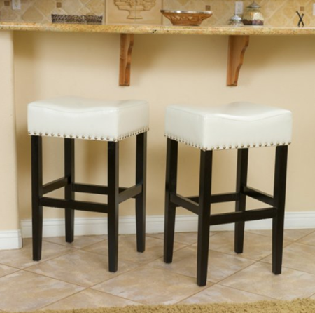 leather top bar stools