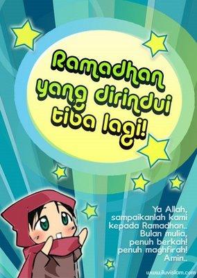 Ramadhan yang dirindui tiba