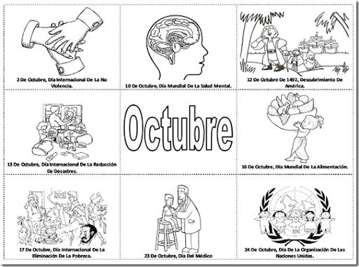 Efemerides De Octubre Dibujos Para Colorear Imagui
