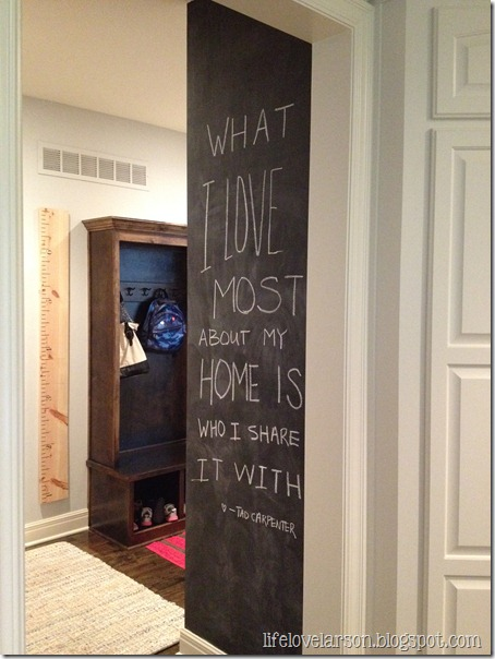 Chalkboard Wall In The Kitchen Life