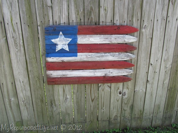 Americana Flag (Repurposed Fence) (24)