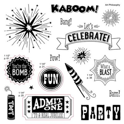Let's Celebrate, You're the Bomb, Pow, Kaboom, What a blast, Party, Independence Day, Fourth of July CTMH, SU