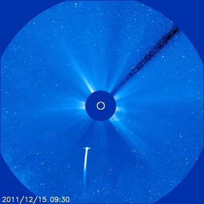 cometa Lovejoy no campo de visão do SOHO LASCO C3