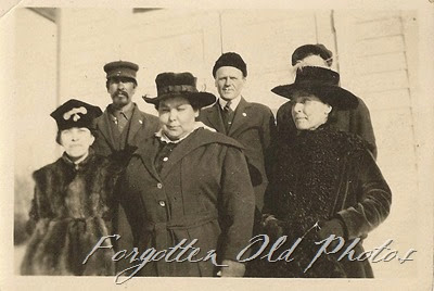 Group of six with hats DL Antiques