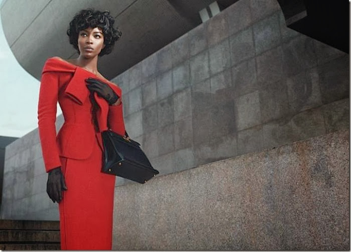 Naomi Campbell: First Lady of Fashion models red dress