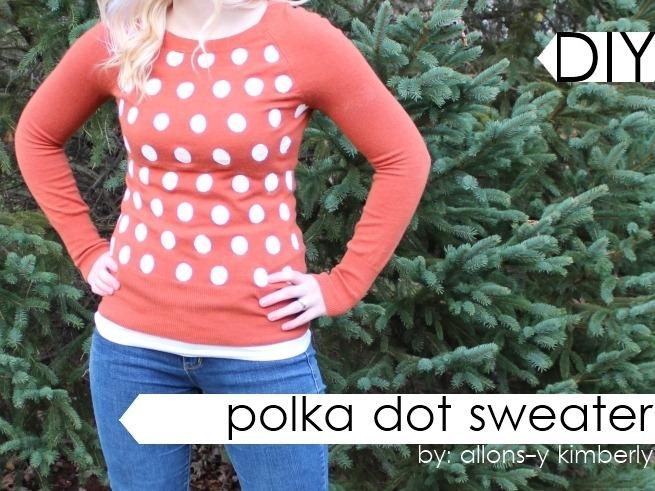 DIY Polka Dot Sweater | allonsykimberly.com