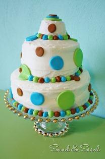 Polka dot teen birthday cake