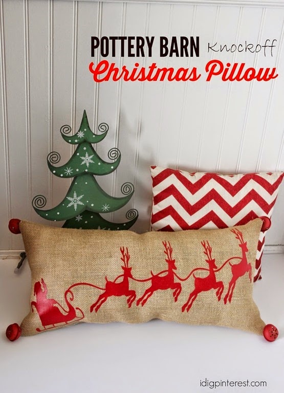 Pottery Barn Santa Christmas Pillow