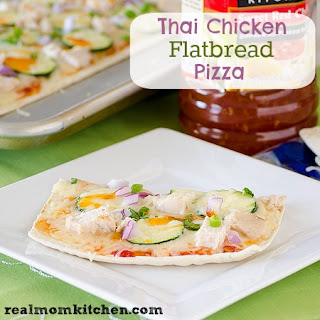 Thai Chicken Flatbread Pizza.