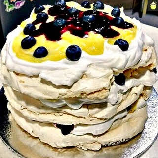 Blueberry & Lemon Meringue Cake.