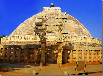 800px-Sanchi_Stupa_from_Eastern_gate,_Madhya_Pradesh