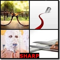 SHARP- 4 Pics 1 Word Answers 3 Letters