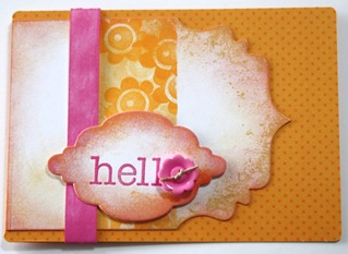 Doodlebug Card Hello - Workshop