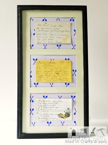 vintage recipe display