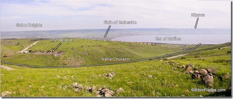 Chorazin panorama from west, tb041103211-labeled