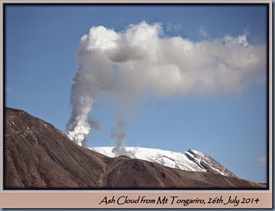 Ash  Plume from Mt Tongariro