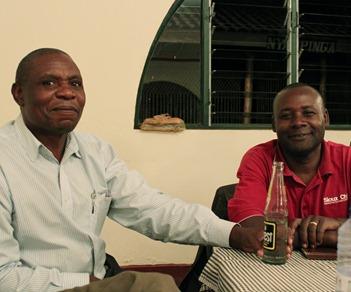Etienne and John in Kigali, Rwanda