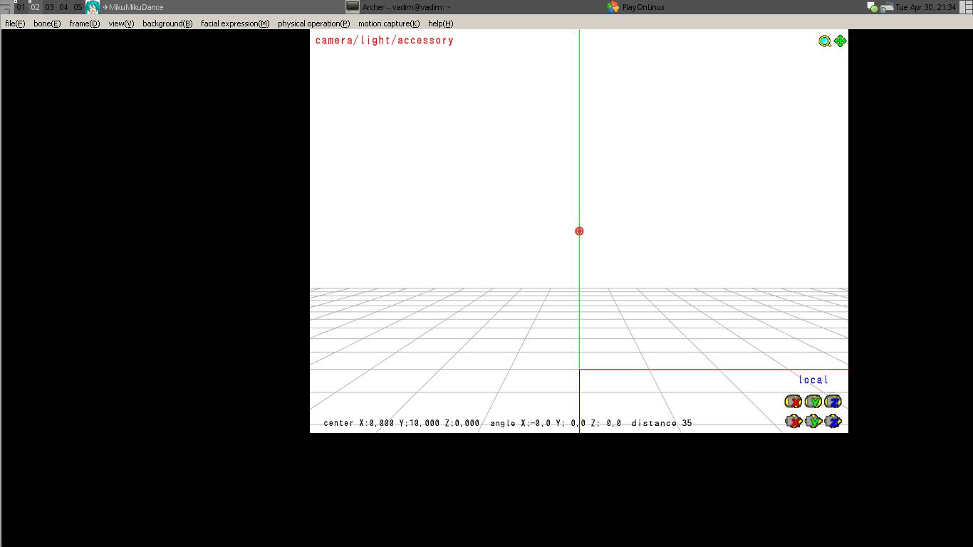 Ehl: UTAU, MMD, PMD/PMX Editor in Linux  -- Status