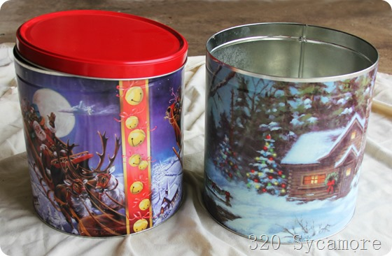 christmas canisters