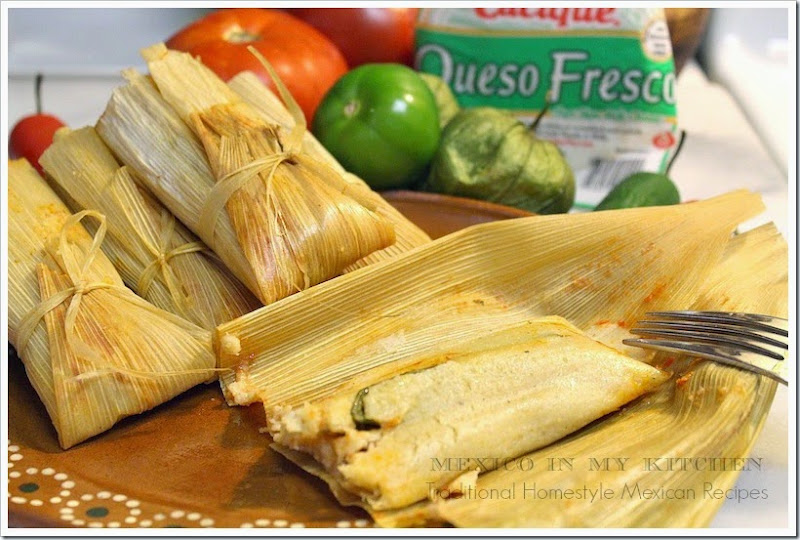 Tamales de Rajas Con Queso | Quick and Easy